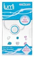 Lumi Glo Bracelet with Charms & Beads - BLUE LED