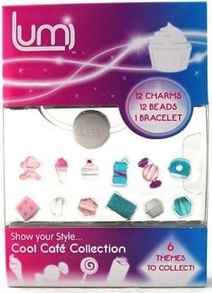 Lumi Glo Collection Bracelet Charms & Beads Accessory Pack - Cool Cafe