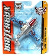 Matchbox 60th Anniversary Sky Busters Diecast Plane MBX S-XP Silver