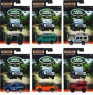 Matchbox Land Rover Diecast Cars - Complete Set of 6