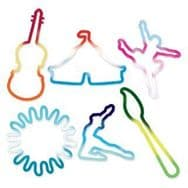 Official Sillybandz Silly Bandz Art Fest Shapes x 24