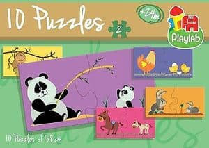 Playlab 10 Puzzles in a Box Jigsaws - Animals