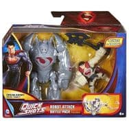 Superman Man of Steel Quick Shots Vehicle Robot Attack Y5896
