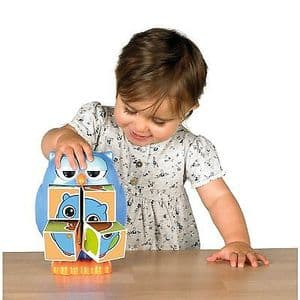 Tomy Play to Learn Mr Owl Pop Out Puzzles Blocks