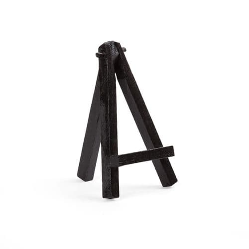 "Black Colour Mini Easel 5"" - Beech Wood"