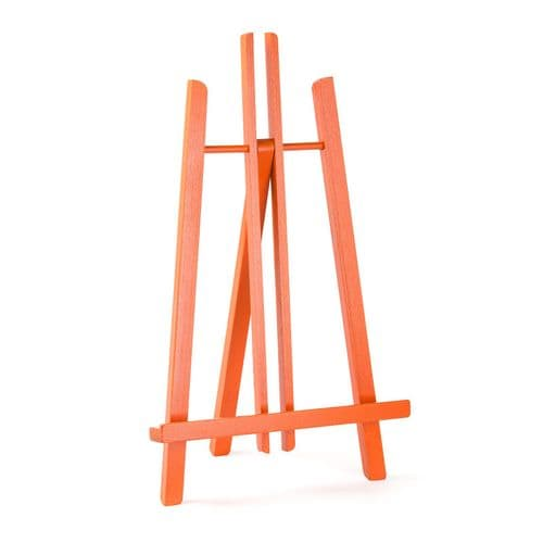 "Orange Colour Easel Kent 20"" - Beech Wood"