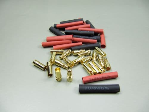 3.5mm bullet connectors with heat shrink (10 pairs set )