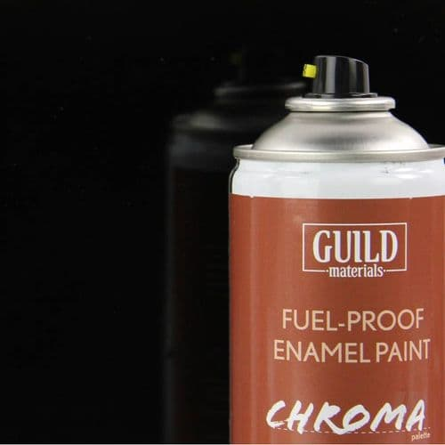 Chroma Enamel Fuelproof Paint Gloss Black (400ml Aerosol)