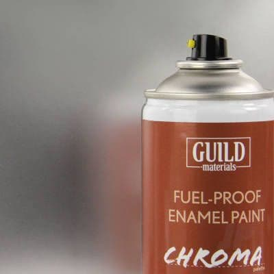Chroma Enamel Fuelproof Paint Gloss Silver (400ml Aerosol)