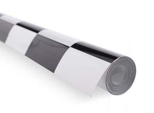 Covering Film Large Pattern Grill-work Black/White  (sold per meter )