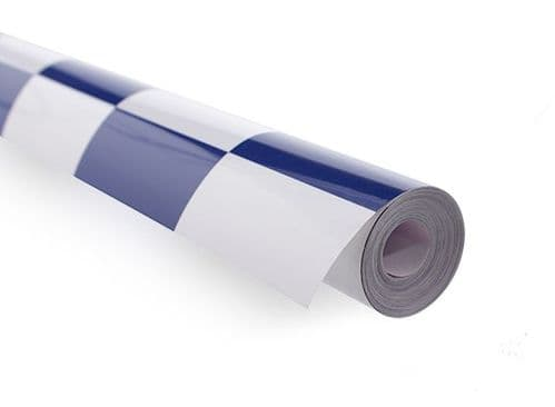 Covering Film Large Pattern Grill-work Blue/White(sold per meter )