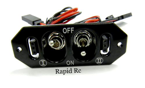 Dual RX/CDI Power Switch with Dual Charge with Voltage Check ports