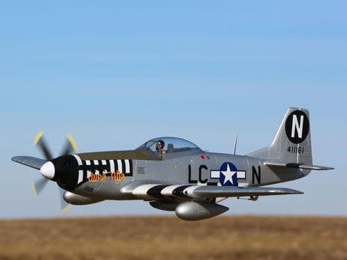 E-Flite P-51D Mustang 1.2m BNF Basic with AS3X and SAFE Select EFL89500