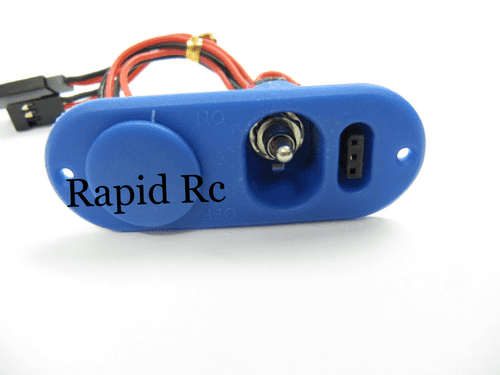 Heavy Duty RX Switch with Charge Port & Fuel Dot Blue