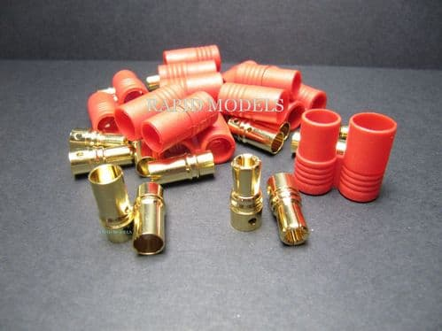 HXT 6mm Gold Connector w/ Protector (10pcs/set)