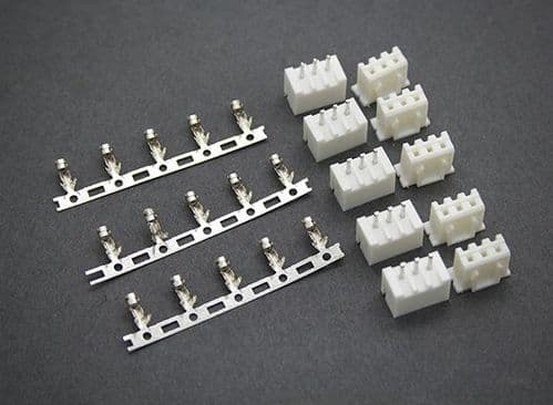 JST-XH (2S) 3 Pin  Balancer Connectors Male/Female (5 pairs)