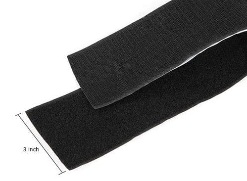Polyester Velcro Peel-n-Stick Self-Adhesive V-STRONG Black ( one meter)