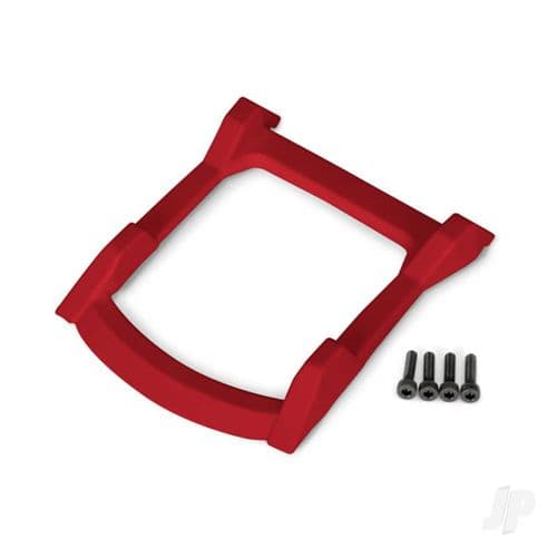 Traxxas Skid plate, roof (Body) (Red) / 3x12mm CS (4 pcs) TRX6728R