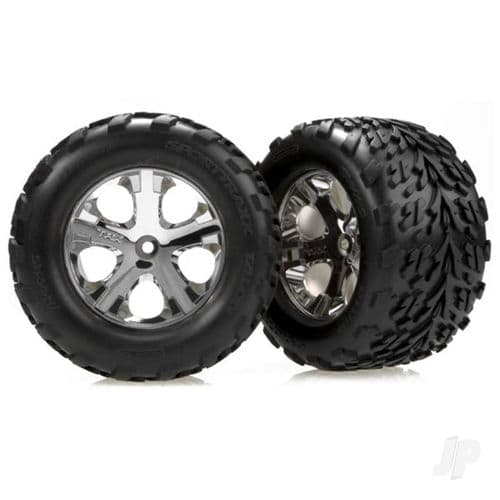 Traxxas Tyres and Wheels, Assembled Glued (2.8in) (2 pcs) TRX3669