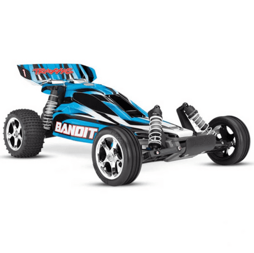 Traxxas X Bandit Blue 1:10 2WD Off-Road Buggy (+ TQ, XL-5, Titan 550, 7-Cell NiMH, DC Charger)