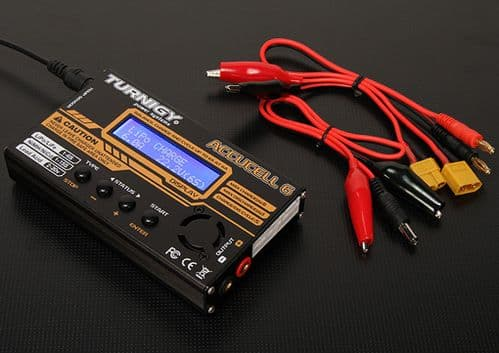 Turnigy Accucel-6 50W 6A Balancer / Charger with accessories