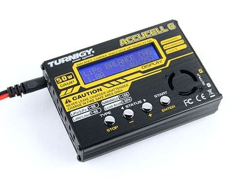Turnigy Accucell-6 50W 6A Balancer Charger Lipo Life LiHV Nimh Nicad Capable