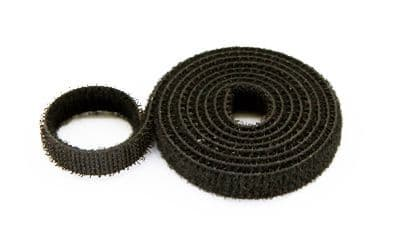 Velcro 13mm Wide (loops & hooks integrated) 1 Meter - Black