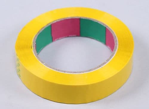 Wing Tape 45mic x 24mm x 100m  Narrow - Yellow