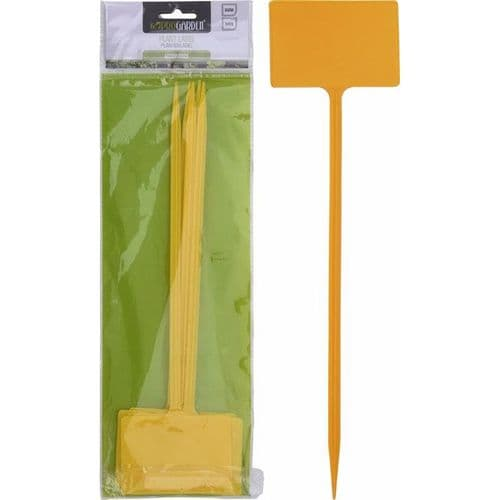 5 Yellow T-Shaped Plant Markers (35cm)
