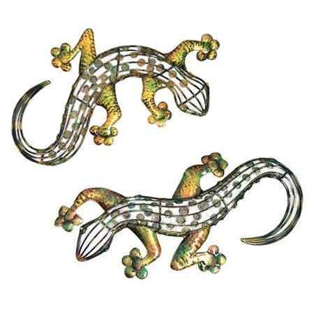 Large Enamelled Gecko Wall Art