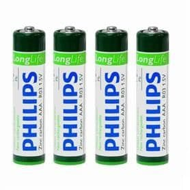 Pile AAA PHILIPS LONGLIFE R03 - 4 pièces