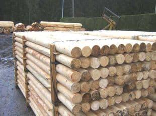 Barre d'obstacles bois diamètre 9 en 3,5 m