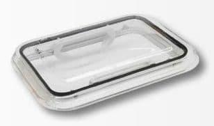 Lucarne en verre clair, sans grille de protection
