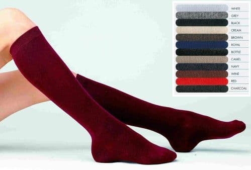 Graduate' Knee High Socks with comfort toe - Adult Sizes 4-11 - 2 pair pack from