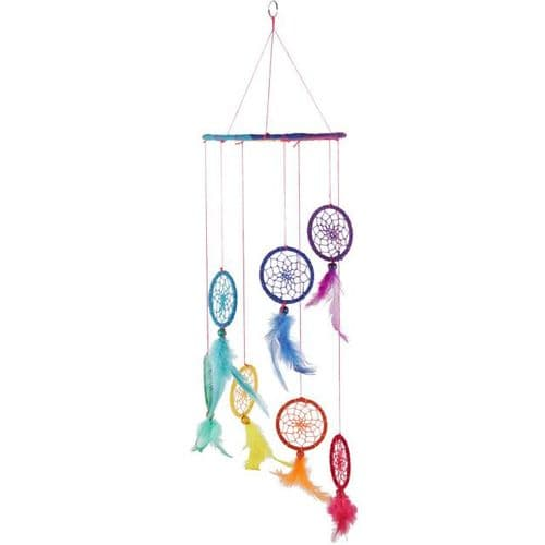 Rainbow Spiral Dream Catcher