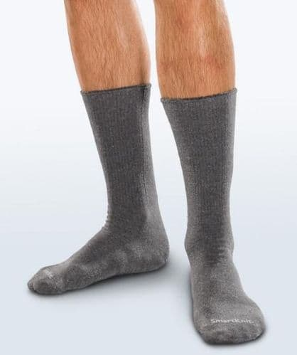 Adult Seamless Sensitivity Socks - Crew - CHARCOAL - (Smartknit)