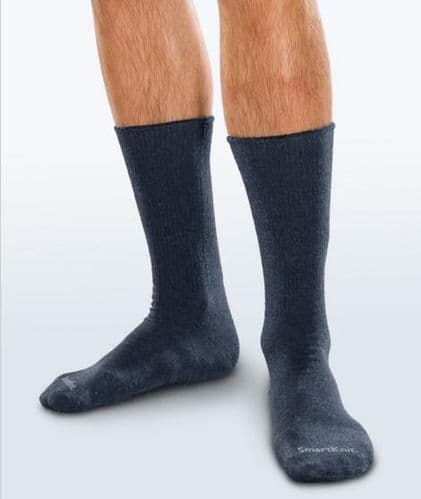 Adult Seamless Sensitivity Socks - Crew - NAVY - (Smartknit)