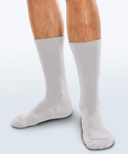 Adult Seamless Sensitivity Socks - Crew - PALE GREY - (Smartknit)