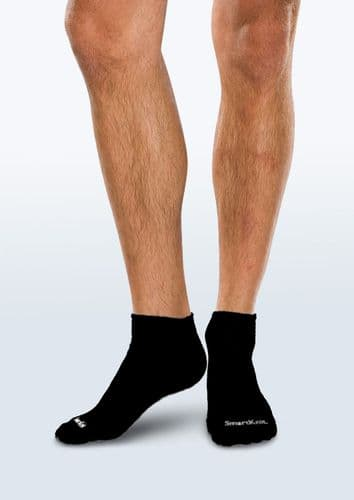 Adult Seamless Sensitivity Socks - Mini Crew - BLACK - (Smartknit)