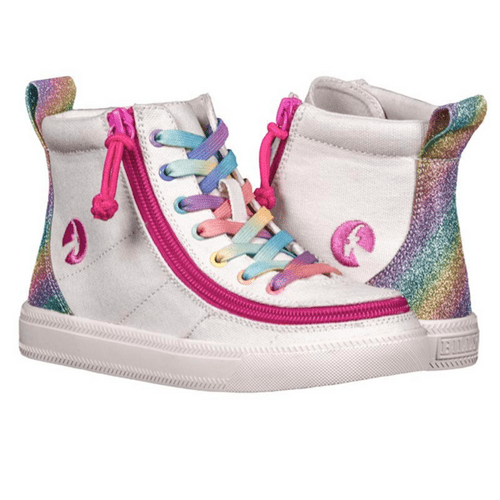 BILLY FOOTWEAR (KIDS) - HIGH TOP RAINBOW CANVAS SHOES