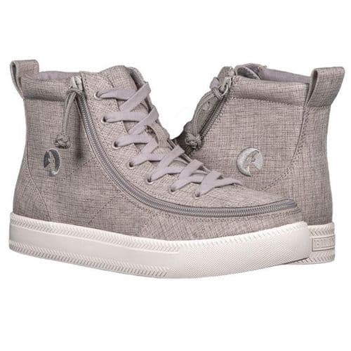 BILLY FOOTWEAR (MENS) - GREY HIGH TOP CANVAS SHOES
