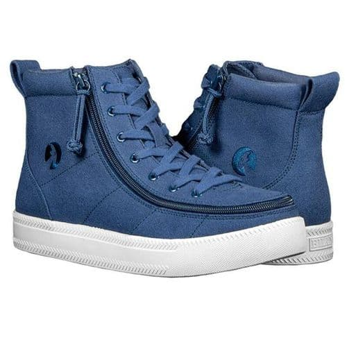 BILLY FOOTWEAR (MENS) - NAVY HIGH TOP CANVAS SHOES*