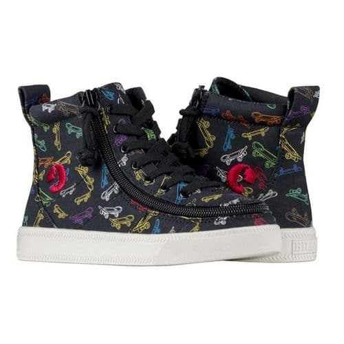 BILLY FOOTWEAR (TODDLERS) - HIGH TOP BLACK SKATEBOARDS CANVAS SHOES