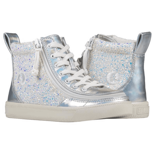BILLY FOOTWEAR (TODDLERS) - HIGH TOP FAUX LEATHER METALLIC GLITTER SHOES