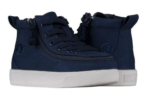 BILLY FOOTWEAR (TODDLERS) WDR FIT - HIGH TOP NAVY JERSEY SHOES