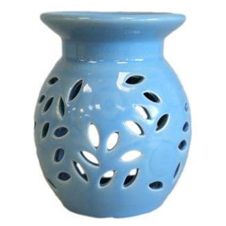 Ceramic Oil Burner 'Bluebell' - Ideal for wax melts or oils