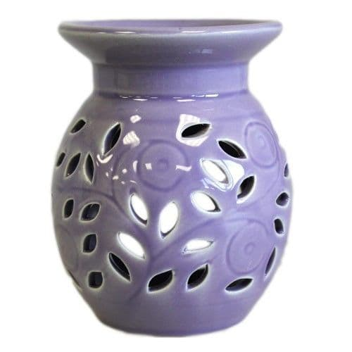 Ceramic Oil Burner 'Lavender' - Ideal for wax melts or oils