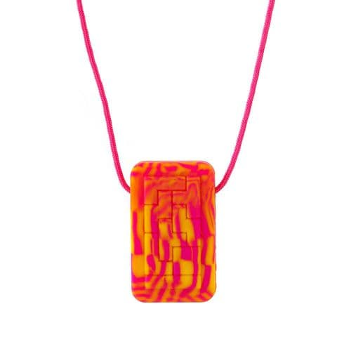 Geotag Pendant 'Decoded' (Pink) - Chewigem