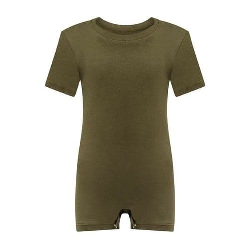 KayCey Super Soft Body Suit - Short Sleeve - KHAKI from