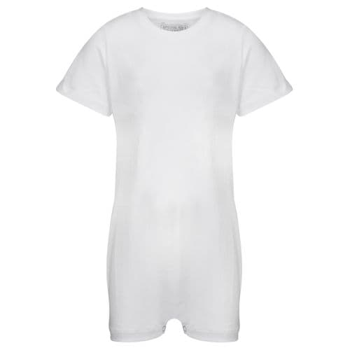 KayCey Super Soft Body Suit - Short Sleeve - WHITE from